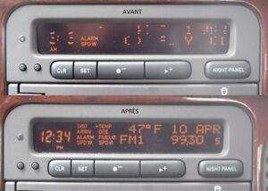 Saab 9-3 ,9-5, Reparation d'affichage écran LCD pixel defectueux