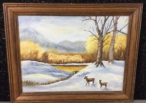 Beautiful Winter Theme Framed Painting