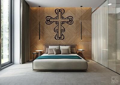 Christian Cross Wall Decal Home Art Decor Vinyl Stickers Family Mural Room DIY