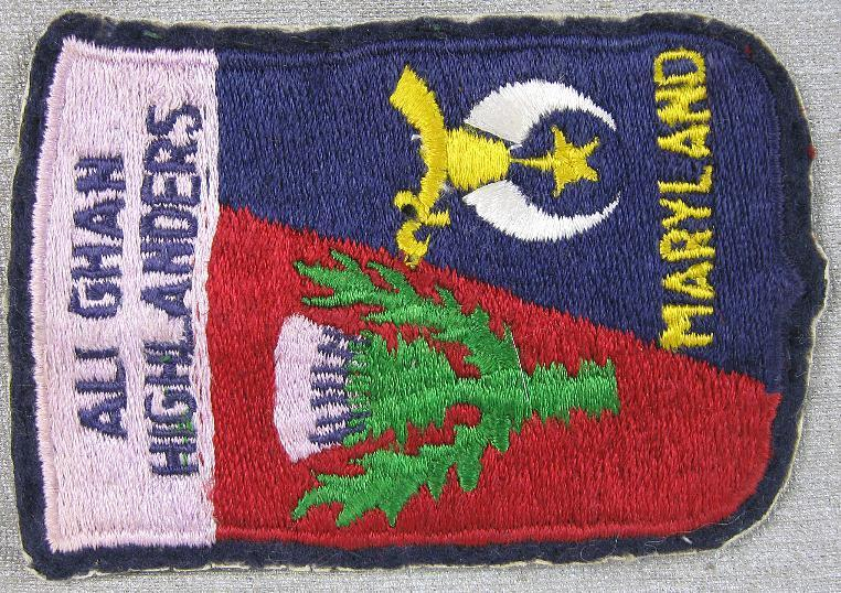 1950's Ali Ghan High Anders Shriners Masonic Maryland Patch