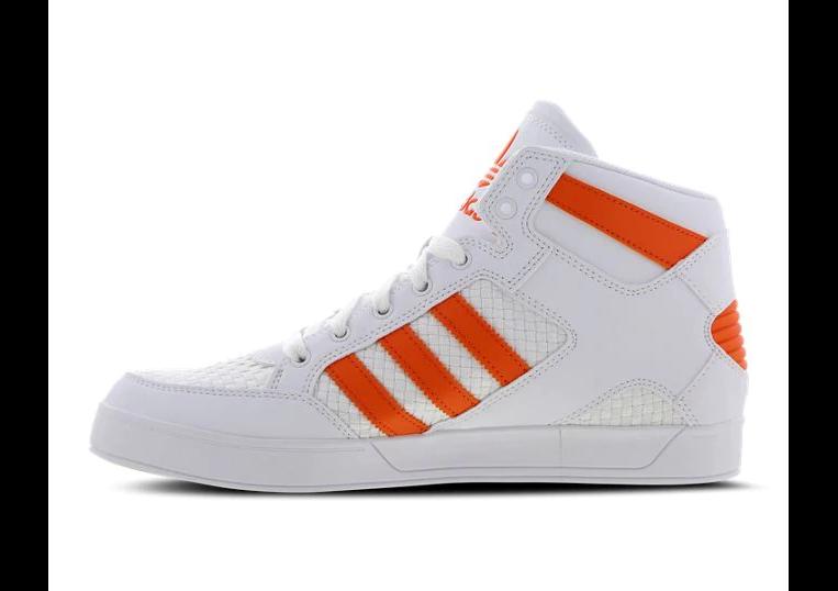Herren Adidas Original Hardcourt Sommer Craft Hi Turnschuhe Weiß Orange BB7760
