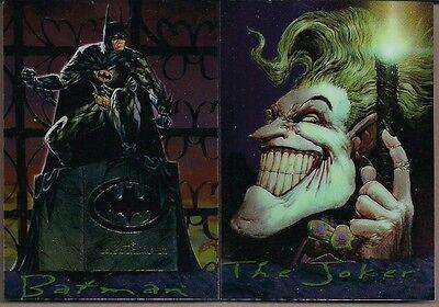 BATMAN MASTER SERIES 1995 DC/SKYBOX CHROMIUM CHASE 2 CARD SET BATMAN & JOKER NM