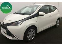£154.14 PER MONTH WHITE 2014 TOYOTA AYGO 1.0 VVT-i X-PRESSION 5 DR PETROL MANUAL