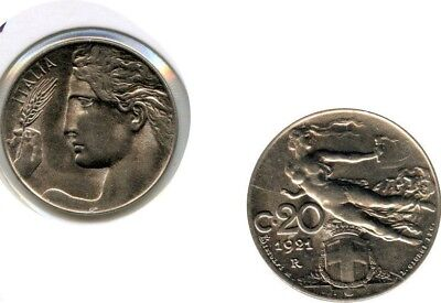 Italien 20 Cent. 1921 Bankfrisch