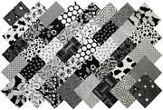 Black and White Fabric Squares