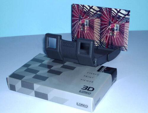 LOREO MINI 3-D Stereo PRINT VIEWER for 3x5 4x6 inch Prints Stereo-Views Fuji W3