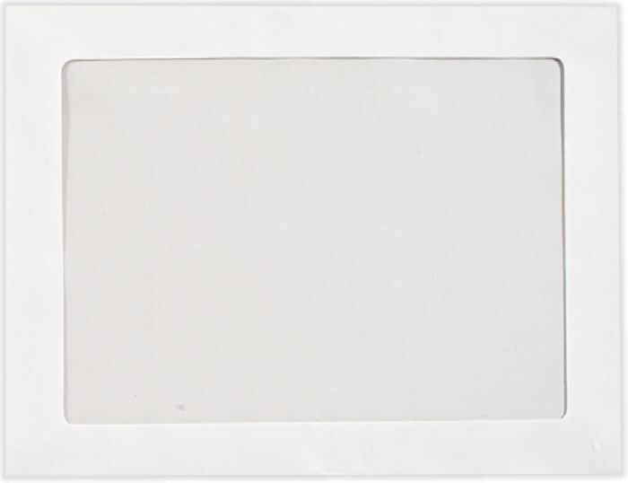 "Full Face Window Envelopes 6 x 9"" View Poly White Kraft Paper 500/Carton"