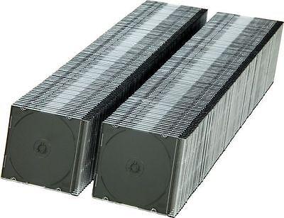 100 NEW 5.2MM SLIM CD JEWEL CASES W/ BLACK TRAY JL08
