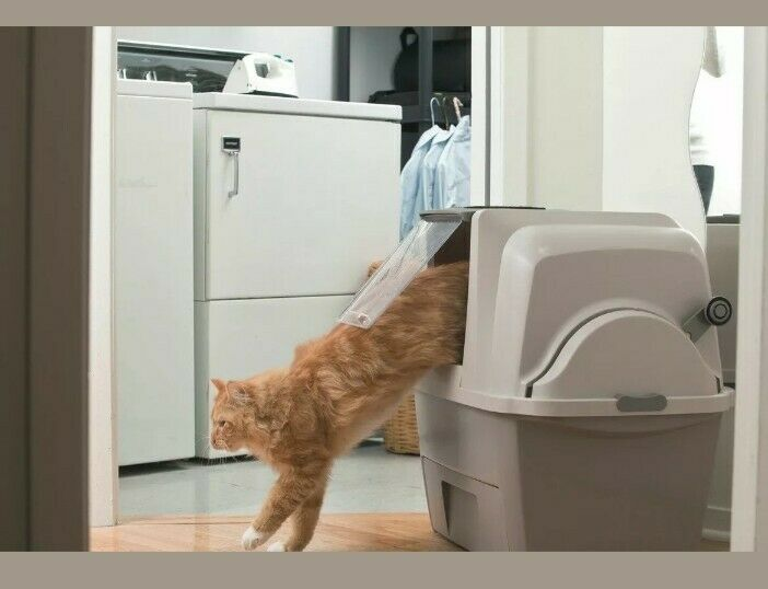 Self Cleaning Cat Litter Box Automatic Pan Lid Cover