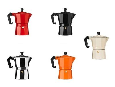 Espresso Maker 3 Cup Aluminium And Available In Different Colours For Tea Coffee
