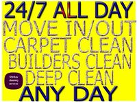 ALL LONDON SHORT NOTICE END OF TENANCY CLEANING SERVICE CARPET HOUSE DEEP DOMESTIC CLEANER AVAILABLE