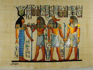 HAND-PAINETD-PAPYRUS-8-x12-20x30cm-Anubis-ORIGINAL-EGYPTIAN-HAND-MADE