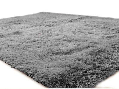 Teppich 160x230 Läufer Fußmatte Shaggy Flokati Langflor Hochflor Grau