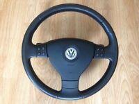 Genuine VW DSG Multifunction Sport Steering Wheel Airbag Passat Golf Paddle Shift SEL GT