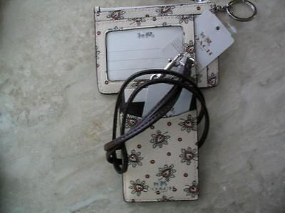 ~COACH LOT Lanyard and Skinny ID First Bud Set Retail 130 Grt 4 Travel NWT!~