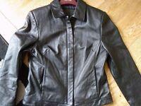 super-soft leather jacket size 10