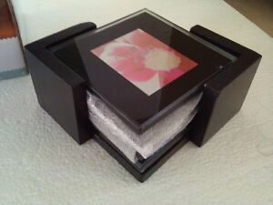 Brand new in box set of 4 glass photo coasters London Ontario image 6