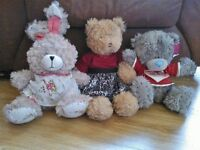 Variety of soft toys in good condition (£1 to £3 each or make an offer)