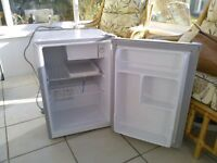 mini fridge only 1 year old ideal for bar etc in silver grey