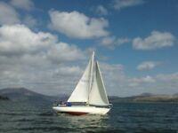 Classic Twister 28 Sailboat. A joy to sail, marina berth paid till April 2017