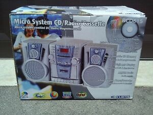 Curtis RCD615 Microsystem CD/Radio/Cassette Player Stereo