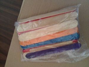 Large sized coloured popsickle sticks for crafts London Ontario image 2