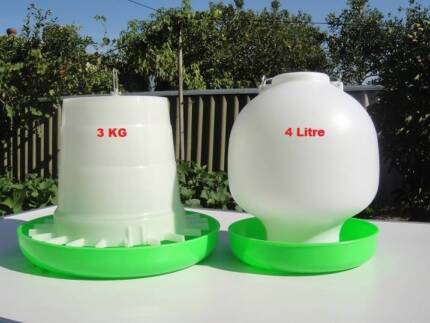 4L Chicken bird Drinker + 3KG Chicken bird Feeder Combo(WP4L)