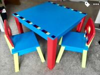 elc wooden toddler table and chairs