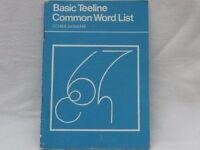 Basic Teeline Common Word List