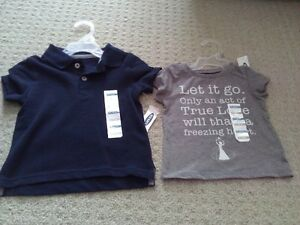 BNWT KID TODDLER GIRL'S T-SHIRTS TANK TOPS POLO 12-18 M LOT OF 5 London Ontario image 5