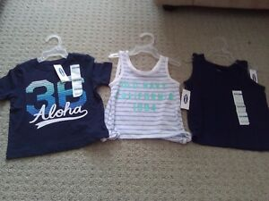 BNWT KID TODDLER GIRL'S T-SHIRTS TANK TOPS POLO 12-18 M LOT OF 5 London Ontario image 4
