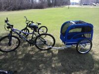 Dog cargo buggy attaches to bike $200 OBO