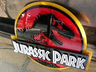 JURASSIC PARK 3D ART sign new  Fossil Dinosaur clean version movie dvd Dino pod