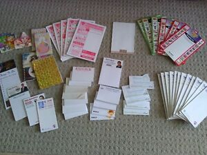 Lot of 50 assorted writing pads notepads memo pads NEW