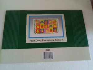 Brand new set of 6 fruits pattern placemats set London Ontario image 1