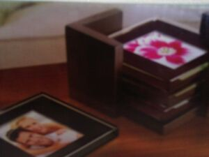 Brand new in box set of 4 glass photo coasters London Ontario image 5