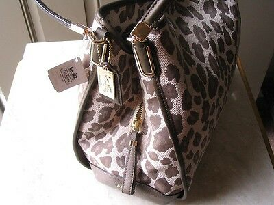 ~COACH Purse Madison Ocelot Jaquard Small Phoebe Shoulder Bag New w Tags!