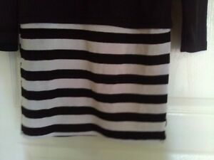 Women's black white striped dress Small New with tags London Ontario image 7