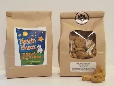 Barkin'Moonz All Natural Handcrafted Dog Cookies Turkey Flavor All Natural Dog Cookie