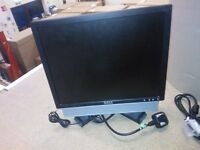 3 Dell monitors with power leads