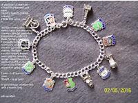 Vintage silver charm bracelet