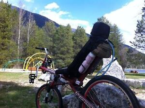 Recumbent Bike, Full Suspension, Hybrid for trail and road.