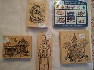 Assorted Christmas-Themed Rubber Stamps - $13 - $15 Kawartha Lakes Peterborough Area image 3