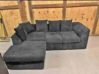 FOAM SEATED BRAND NEW DYLAN JUMBO CORD CORNER OR 3+2 SEATER SOFA SET IN STOCK BUY FROM HERE