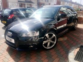 Immaculate Audi A3 S-Line, Blk, 2.0TDi, MOT, 6 Speed, Alloys, £4995 - Lady owner