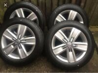 New VW T5 T5.1 T6 Transporter Genuine 17 Inch Alloys and Tyres Devonport