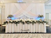 Wedding Backdrop Flower Wall Full Service - Starts at $225