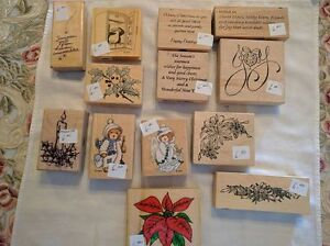 Assorted Christmas-Themed Rubber Stamps - $1.00 and Up Kawartha Lakes Peterborough Area image 8