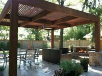 CUSTOM PERGOLAS &  DECKS