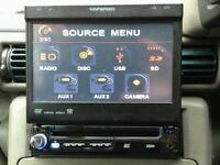 Ripspeed motorised flip touchscreen car dvd player